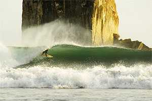 Famous surf spot, Witch's Rock, north of Tamarindo in Guanacaste Province, Costa Rica